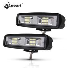 Nlpearl-Barra de luz Led antiniebla DE TRABAJO, foco de 48W, 4x4, para camiones, Jeep, ATV, SUV, DRL