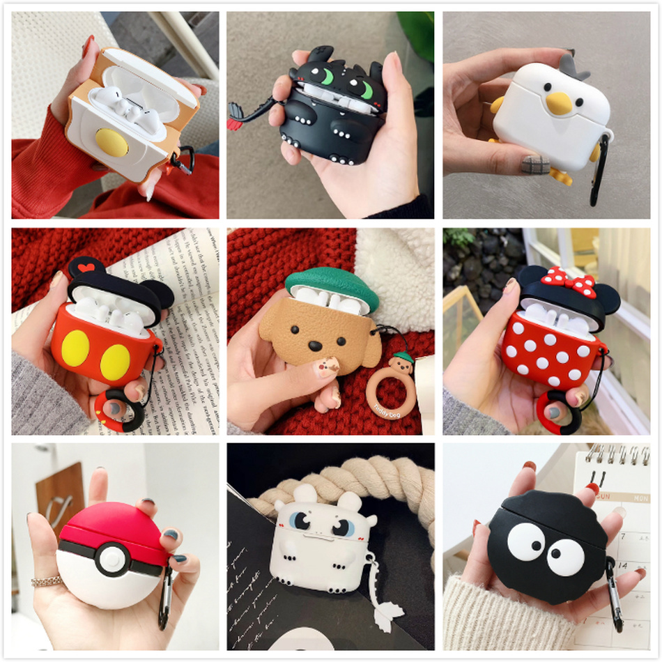 3D Cartoon Case For Huawei Freebuds 3 Case Cute Duck Toast Silicone Earpods Cover For Huawei Freebuds 3 Pro Cases With Keychain