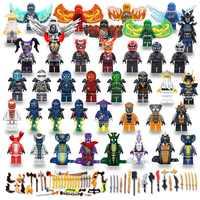 40 piezas de máscaras de figuras de Ninjago Wu Lloyd Jai COLE ZANE serpiente princesa hijos de GARMADON bloques de construcción compatibles con legoing
