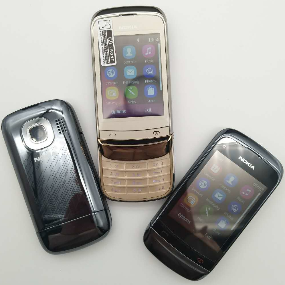 Фото. C2-02 Восстановленное разблокирована оригинальный C2-02 разблокирована Nokia C2-02 мобильный телефон