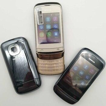 Перейти на Алиэкспресс и купить C2-02 отремонтированный разблокированный оригинальный C2-02 Разблокированный Мобильный телефон Nokia C2-02 с одной sim-картой один год гарантии отре...