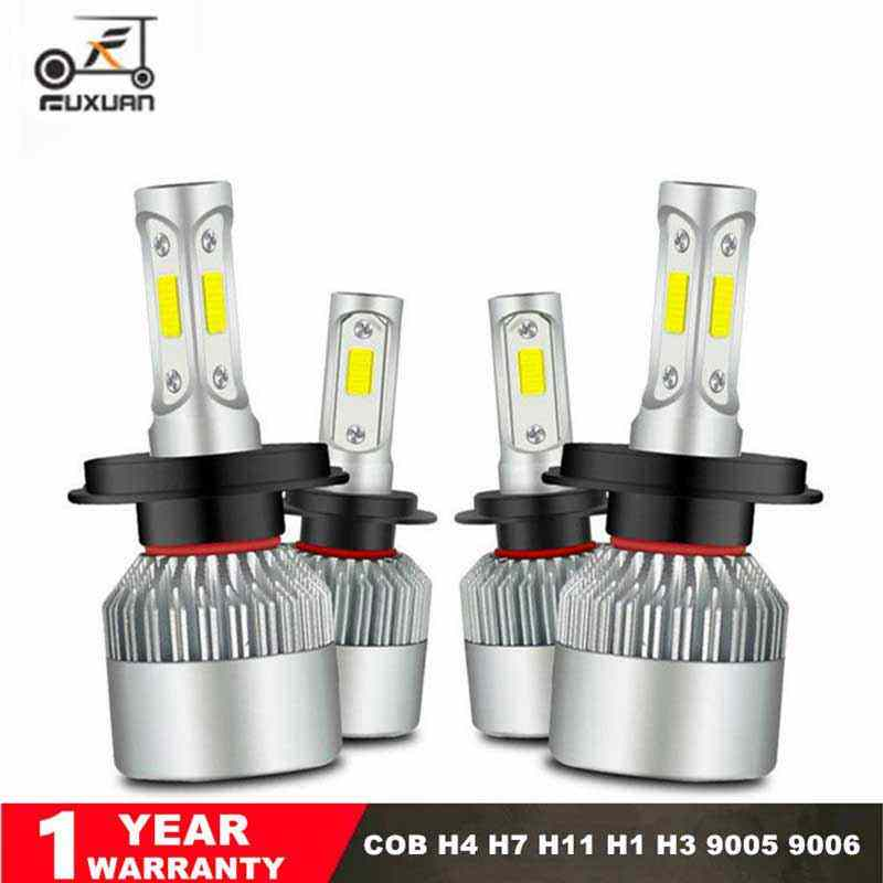 2Pcs Auto H7 LED H4 H11 H8 9006 HB4 H1 H3 9005 HB3 880  Car Headlight Bulbs 72W 8000LM High Low Beam Automobiles Lamp  6500K 12V