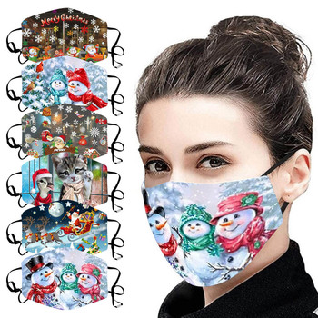 Fashion Printed Mask for Christmas Activated Carbon Outdoor Safety Protect Face Mouth Cover Comfortable Adjustable Masks#NL1 image