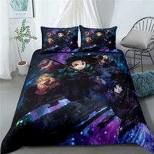 New quilt cover 1.5M three-piece bedding set, boy and girl quilt cover, girl bedroom bed cover, anime style pattern printing home textile three piece bedding 2 pillowcases 1 quilt cover simple solid color 150 210 cm young bedroom supplies 2020 fashion