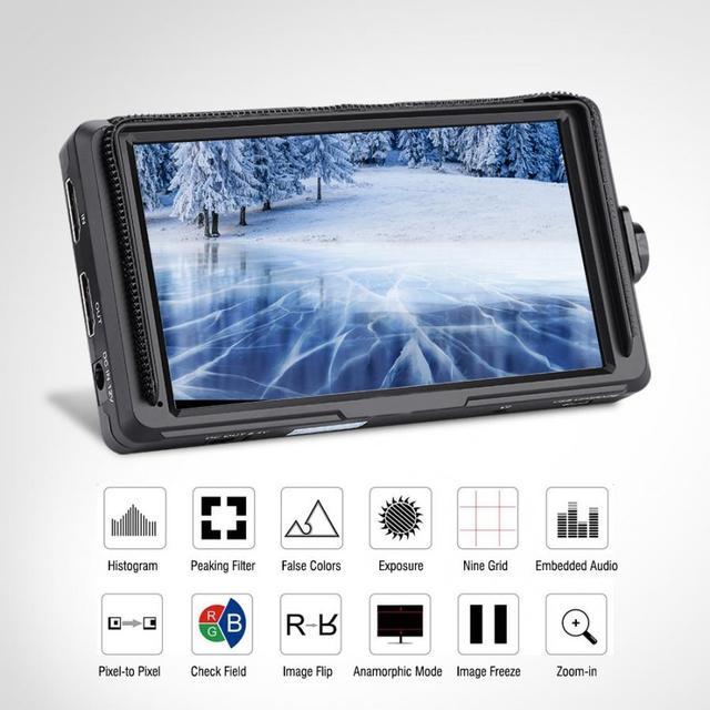 FEELWORLD F5 5 Inch 4K HDMI Full HD 1920X1080 Ngày Camera Video Màn Hình Cho Máy Ảnh DSLR Video màn Hình Mới