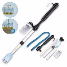 Aquário bateria syphon operado tanque de peixes vácuo cascalho filtro de água limpa sifão filtro mais limpo tanque de peixes ferramentas aquário