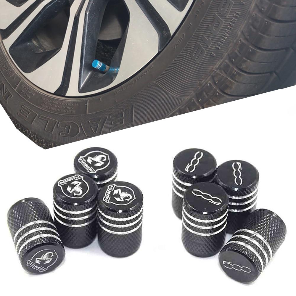 Auto Styling Thread Round Car Tires Wheel Valve Cap Dust Cover For Fiat 500 1100 Alfa Romeo 159 147 156 Abarth Palio Stilo Bravo