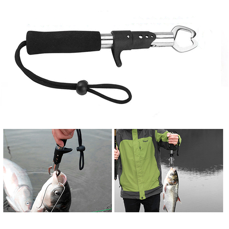 New Fishing Pliers  Fish Clamp Control Stainless Steel Fishing Lip Grip Holder Grabber Pliers Fishing Tool