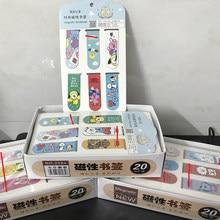 6 pçs 1 conjunto bonito desenhos animados papel marcadores livro magnético marcas escola material de escritório papelaria crianças presente