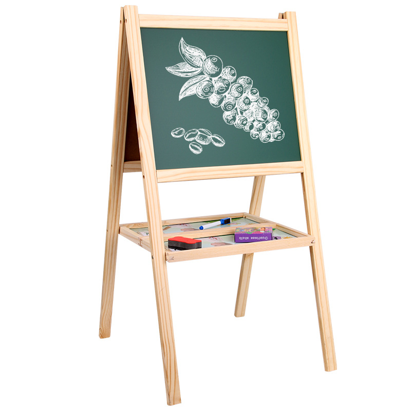 Multi-functional Logs Folding Double-Sided Magnetic Drawing Board WordPad Small Blackboard Braced Drawing Board CHILDREN'S Easel