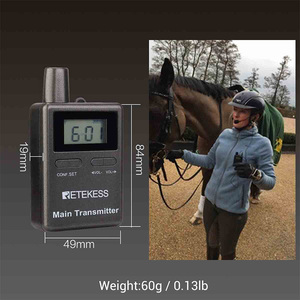 Image 5 - Retekess TT105 2.4GHz אלחוטי משדר מיקרופון סוס רכיבה תקשורת עבור סיור מדריך מערכת מוזיאון הכנסייה תרגום מערכת