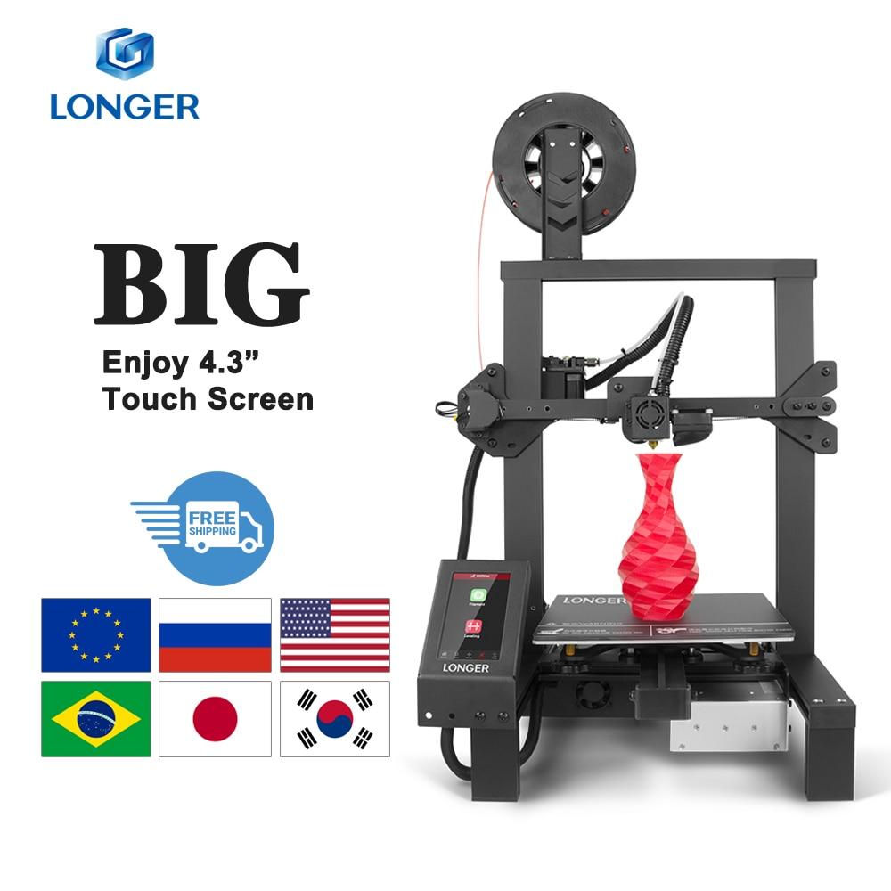 "LONGER LK4 Pro Open Source 3D Printer 4.3"" Full Color Touch Screen Full Metal High Precision Impreso"