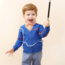 ciciibear Spring Autumn Baby Boys Sweater Toddler Boys V-Neck Knitwear Long-Sleeve Cotton Cardigans Children Clothes Kids Coat new preppy style children s clothing spring autumn winter long sleeve sweater cardigan boys cotton v neck solid kids sweaters