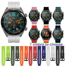 22mm Wrist Strap for Huawei Watch GT Silicone Watch Bands Fo