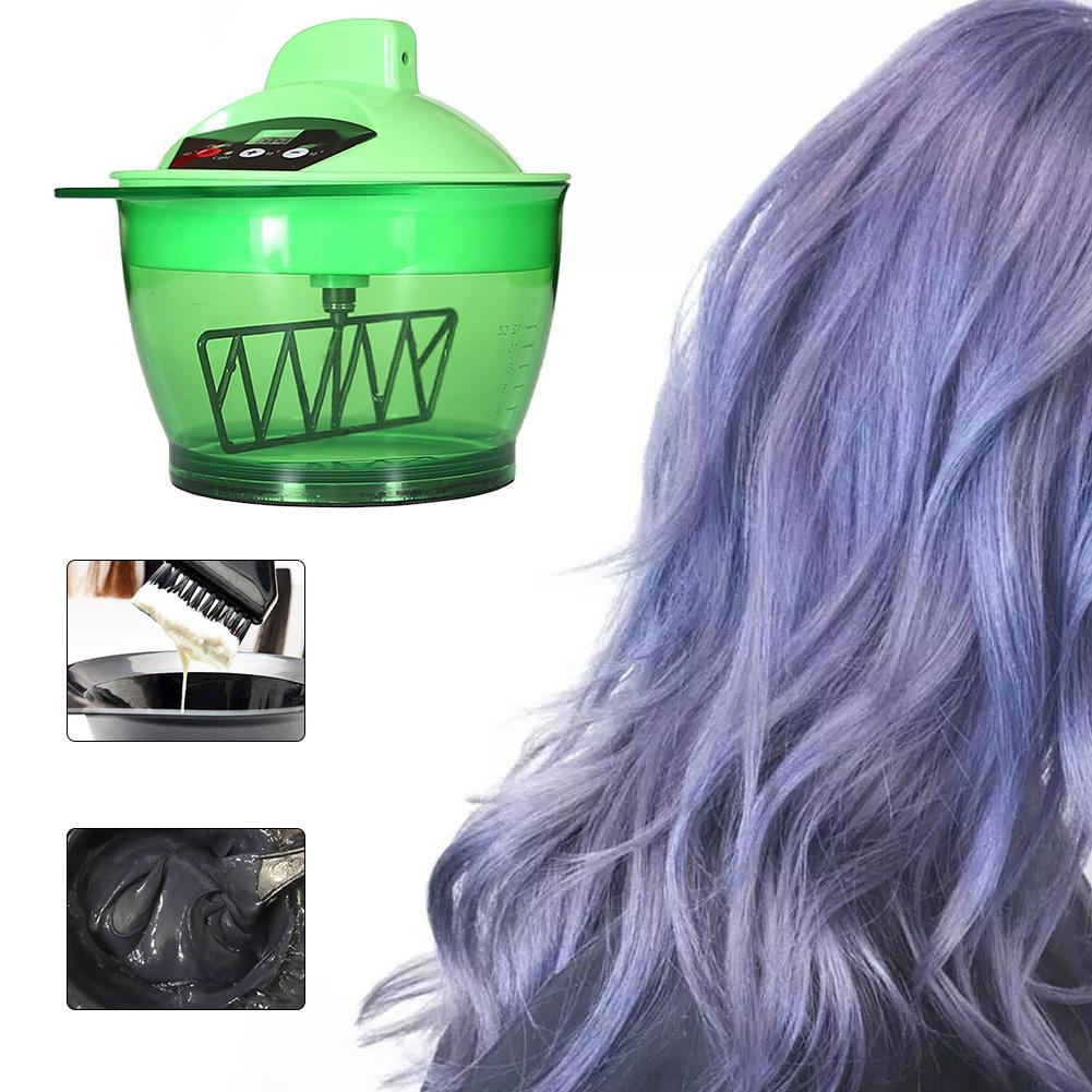 Electric Hair Dyeing Cream Mixing Bowl Automatic Mixing Bowl Hairdressing Tools Plastic Hair Color Mixing Bowl USB Rechargeable