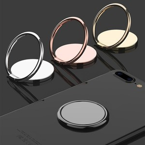 Luxury Spin Rotatable Phone Holder 360 Degree Rotatable Magnet Metal Finger Ring Smartphone Socket For Magnetic Smartphone Stand(China)