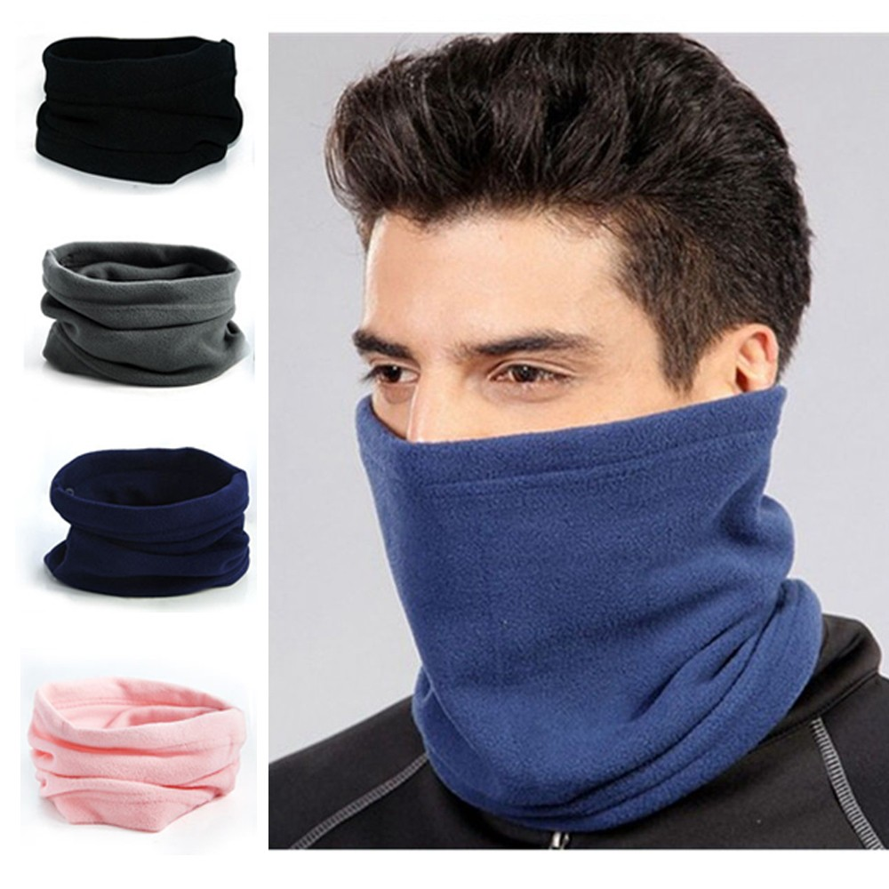 1PC Polar Fleece Neck Warmer Snood Scarf Hat Unisex Thermal Ski Wear Snowboard Face Mask Winter Fashion Apparel Accessories