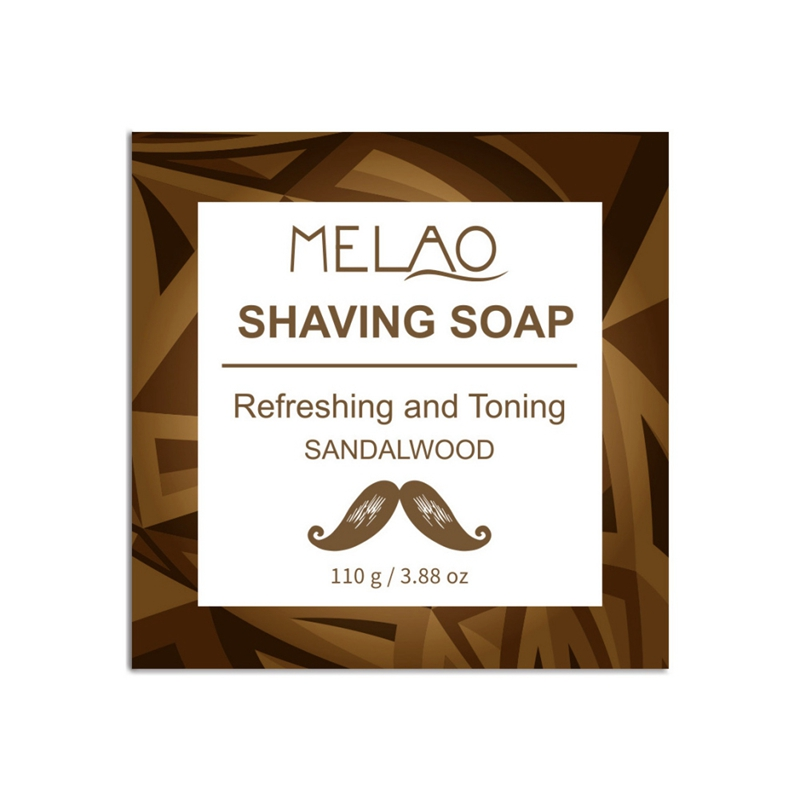 120g Professional Men Beard Shaving Soap Cream Anti-Allergy Shaving Soap Foaming Moisturizing Razor Barbering Beard Care N