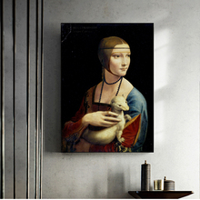 The Lady With An Ermine Canvas Paintings On The Wall By Leonardo Da Vinci Famous Wall Art Posters And Prints Cuadros Wall Decor leonardo da vinci thoughts on art and life