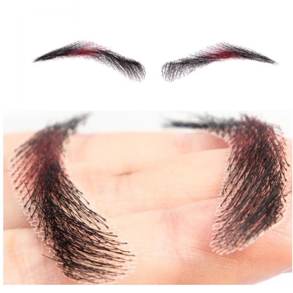 2018 FXVIC ombre BURG ลูกไม้หน้าผากคิ้วและมนุษย์ 1b/99j false eye brows วิกผมสำหรับผู้หญิงฟรีการจัดส่ง-ใน สีย้อมคิ้ว จาก ความงามและสุขภาพ บน   1