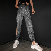 Dance-Costumes Rave Clothes Bling Stage-Outfits Jazz Women Hip-Hop SL4488 Pants Laser
