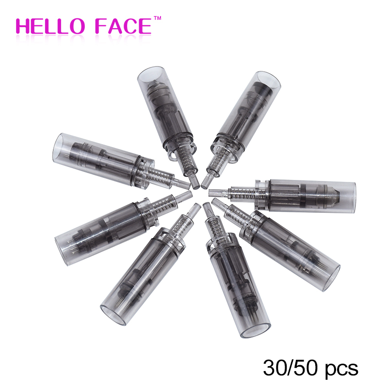 50pcs Electric Derma Needles Pen Cartridges 9/12/24/36/42pin Nano Needle Tips For Ultima A7 Dr Pen Auto Micro Needle Therapy