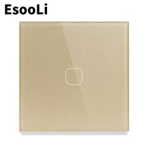 EsooLi стандарт ЕС/Великобритании выключатель света настенный сенсорный сенсор переключатель, Кристалл Стекло Выключатель питания, 1/2/3 банды ...