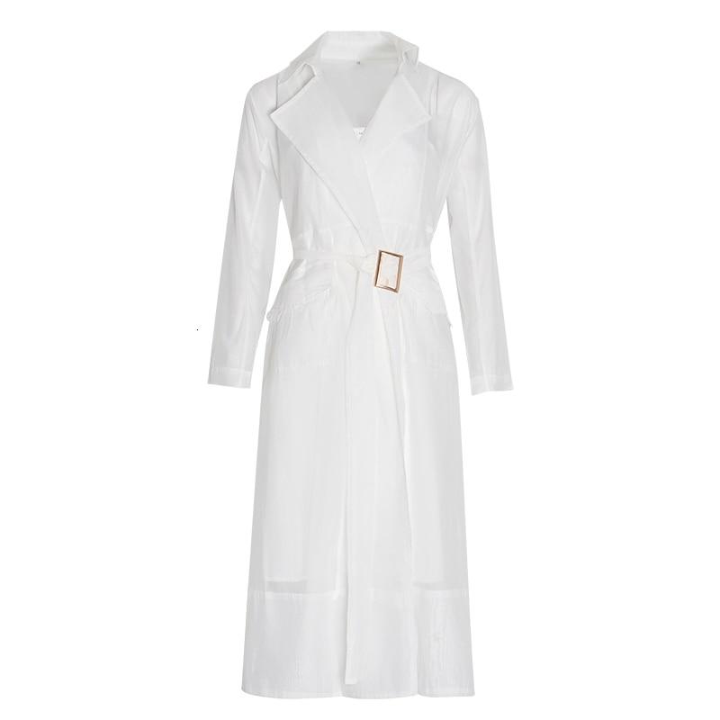 TWOTWINSTYLE Voile Lace up Windbreaker Dress Women Long Sleeve Feather Pockets Sexy Party Dresses Female Elegant Clothes 2020 Women Women's Clothings Women's Dresses cb5feb1b7314637725a2e7: Blue dress|white dress