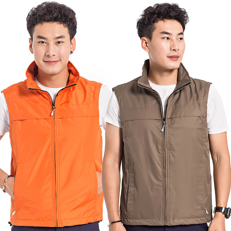 Customizable Men's Casual Waistcoat Customizable Logo Spring And Autumn Work Clothes Sleeveless Fishing Vest