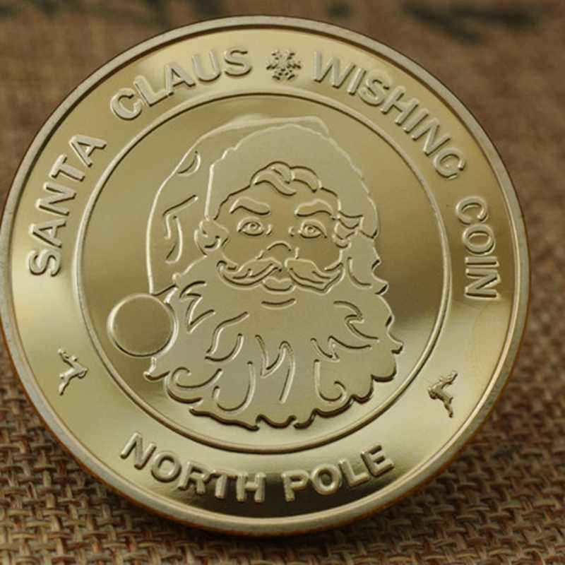 New Year 2018 Silver Christmas Commemorative Coin Souvenirs Gifts Challenge Coin