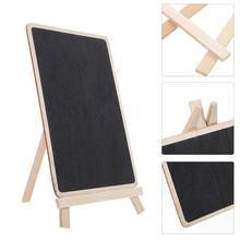 5pcs Chalkboard Signs Vintage Wooden Tabletop Chalkboard Vertical Writing Board