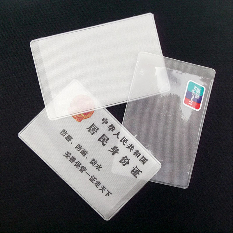 10Pcs Transparent Frosted PVC Business ID Cards Note Covers Holder Cases Travel Ticket Holders Waterproof Protect Bags 9.6*6cm