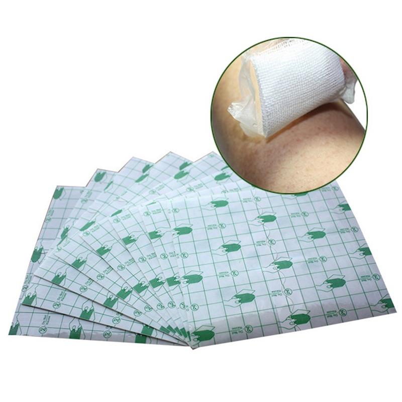 50 Pcs/lot  Transparent Tape PU Film Adhesive Plaster Waterproof Anti-allergic Medicinal Wound Dressing Fixation Tape