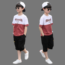 New Summer Boys Clothing Sets Children T-shirt Short Sleeve +Pants Set Two Pieces Set Kids Baby Boys Clothes 6 8 10 11 12 Years