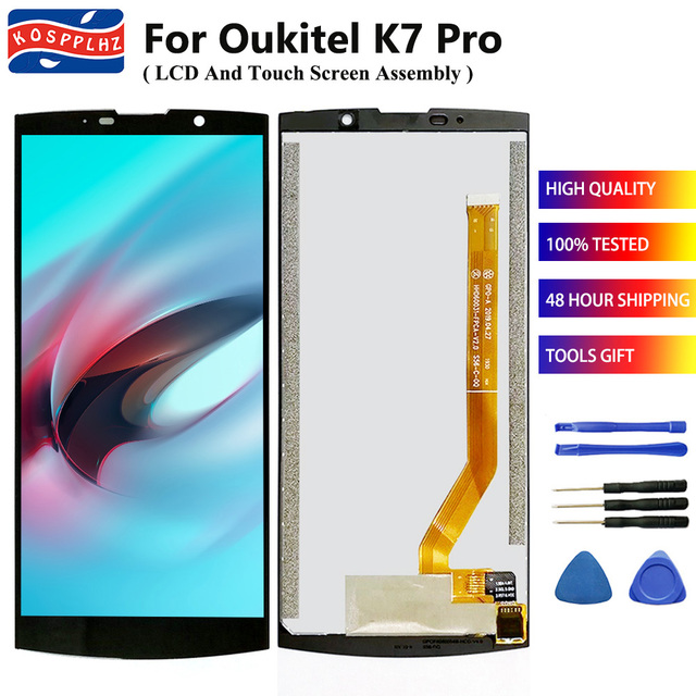 KOSPPLHZ 100% 오리지널 뉴 OUKITEL K7 프로 LCD 디스플레이 터치 스크린 디지타이저 어셈블리 6.0 인치 OUKITEL K7Pro K7 + + 도구