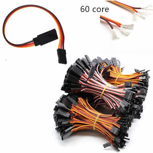 1Pcs สีน้ำตาล-แดง-ส้ม JR ประเภท 60 Core Dupont สายไฟสำหรับเสิร์ฟมอเตอร์ 6 ซม. /10 ซม./15 ซม./20 ซม./30 ซม./40 ซม./50 ซม./60 ซม./100 ซม.