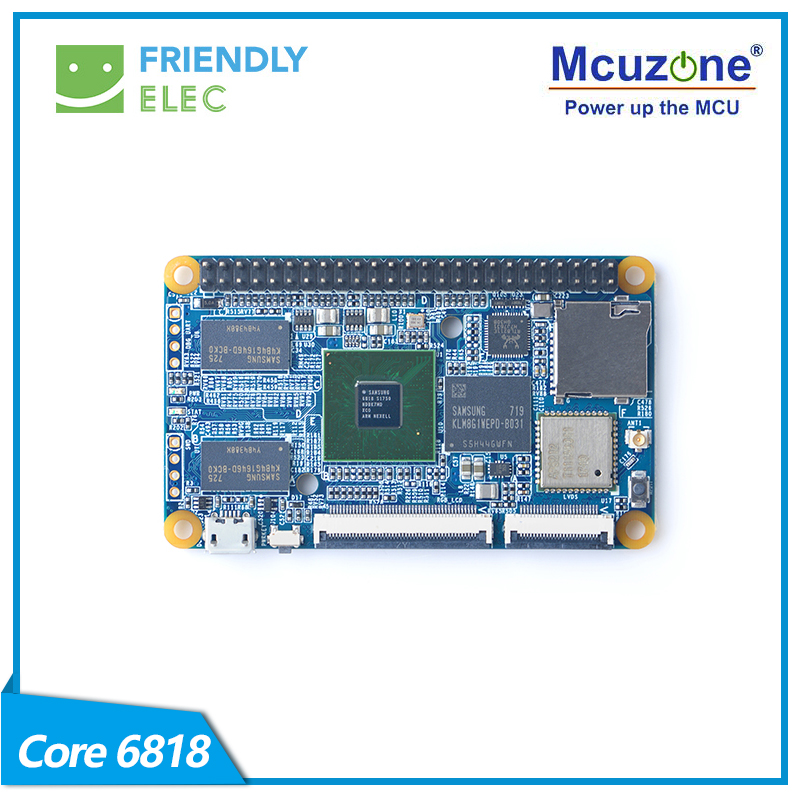 Friendly 6818 Development Board Core6818, Onboard WiFi Bluetooth Gigabit Ethernet Port, Lubuntu Android 7.1.2