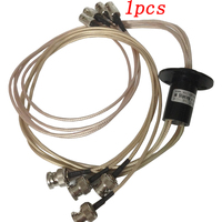 1pcs 4CH SDI 1080P Video Slip Ring 500MHZ 3GHZ High Frequency Collecting Rings Monitor Rotary Joint Electric Connector Slipring