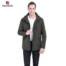 2019 Men Autumn Jacket Casual Trench Coat Windbreaker Mens Parka Homme Camouflage Coats Detachable Hood Outwear Plus Size