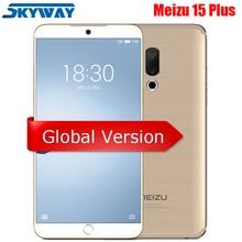 Официальная глобальная версия Meizu 15 Plus, 4G, LTE, 6G, 64G, 128G, Exynos 8895, четыре ядра, 5,95 дюйма, 1440 P, быстрая зарядка, отпечаток пальца, сотовый телефон