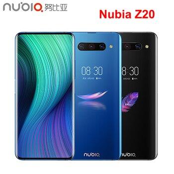 Перейти на Алиэкспресс и купить Оригинальный мобильный телефон Nubia Z20, 6,42 + 5,1 дюймов, двойной гибкий AMOLED экран, 6 ГБ + 128 Гб, Snapdragon 855 Plus камера, смартфон МП