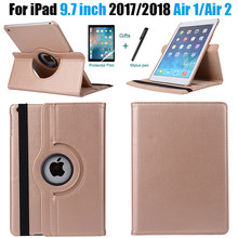 360 градусов вращающийся кожаный умный чехол для Apple iPad Air 2 Air 1 5 6 Новый iPad 9,7 2017 2018 A1822 A1823 A1893 Coque Funda