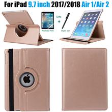 360 stopni obracanie skórzane inteligentne pokrywy skrzynka dla Apple iPad powietrza 2 powietrza 1 5 6 nowy iPad 9 7 2017 2018 A1822 A1823 A1893 Coque Funda tanie tanio VODAITAS Osłona skóra 9 7 CN (pochodzenie) case for ipad 9 7 2017 2018 Stałe 9 7inch IPad 9 7 cal 2017 Moda funda case for ipad air 1 air 2