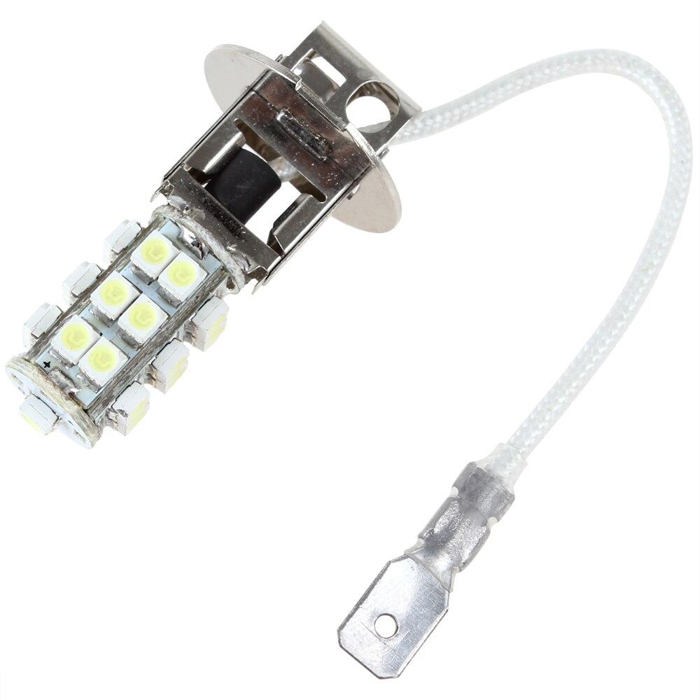1pcs H3 12V 2W 25 X SMD LED Car Fog Light Bulb Super Bright White Light Auto Fog Lamp