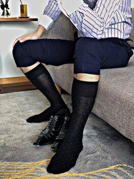 Men's Socks Male Formal Dress Black Socks Men's Business Socks Sexy Men's Dress Socks Breathable Wave Point Men's Cotton Socks фото