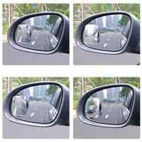 Voiture HD miroir convexe 360 degrés réglable grand angle miroir aveugle zone miroir grand champ de vision rétroviseur auxiliaire