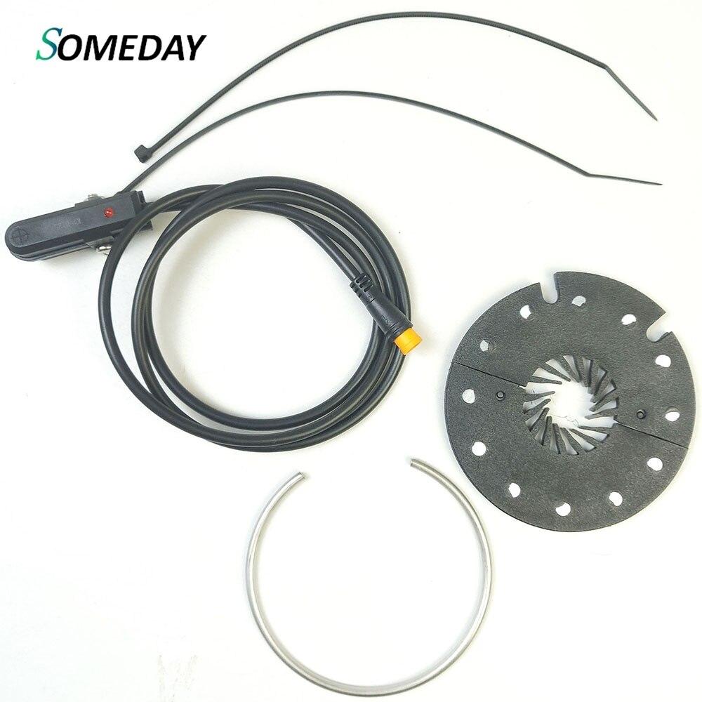 SOMEDAY KT-D12L Double Hall 12 PAS Magents Pedal Assistant Sensor Electric Bikes Parts Half-half Design SM Waterproof Connector