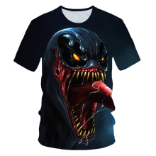 все цены на Boys/Girls Movie Venom Print T shirt Kids Cartoon Funny Clothes Children Summer Short Sleeve Baby T-shirt Cool Hip Hop Tshirt