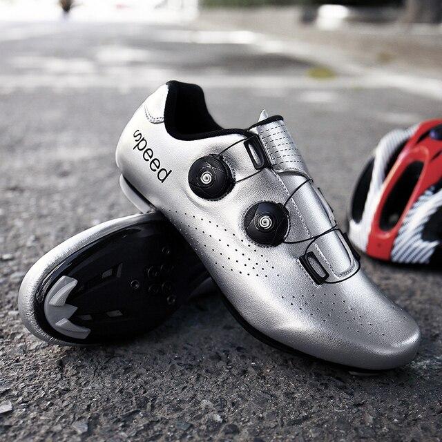 Mtb ciclismo sapatos homem auto-bloqueio profissional atlético sapatos de bicicleta sapaticultura respirável tênis tamanho grande 36-47 6