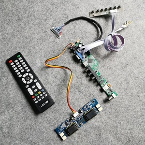 1280*1024 tela para m190e1/m190e2/m190e3/m190e5 display lcd placa controladora universal 4ccfl vga + av + usb lvds 30pin kit diy